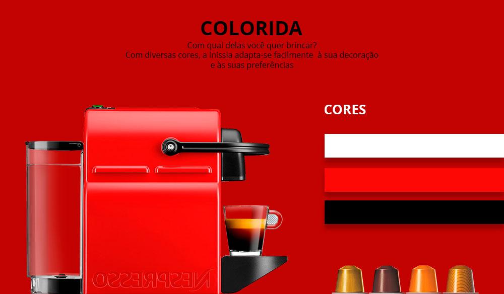 Máquina de Café Nespresso Inissia Preta 110v - Compre Online - Girafa