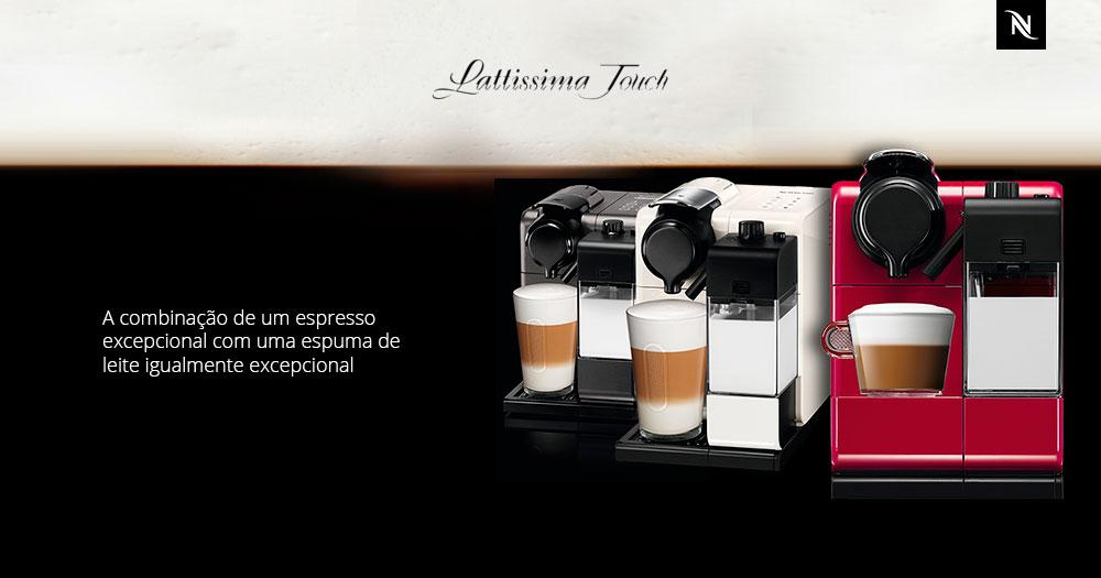Máquina de Café Nespresso Lattissima Touch Preta 110V com Controle ...