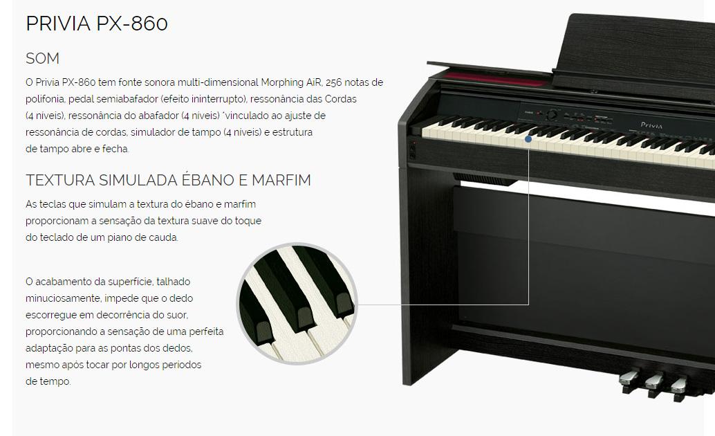 piano digital casio privia px 860 marrom com 256 de polifonia e 60 timbres ovelha negra musical. Black Bedroom Furniture Sets. Home Design Ideas