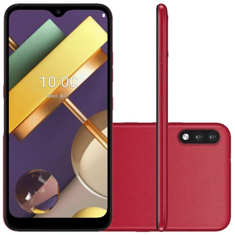 Smartphone Lg K22 Plus Vermelho Tela 6.2, 4g Wi-fi Android 10 Câm Tra