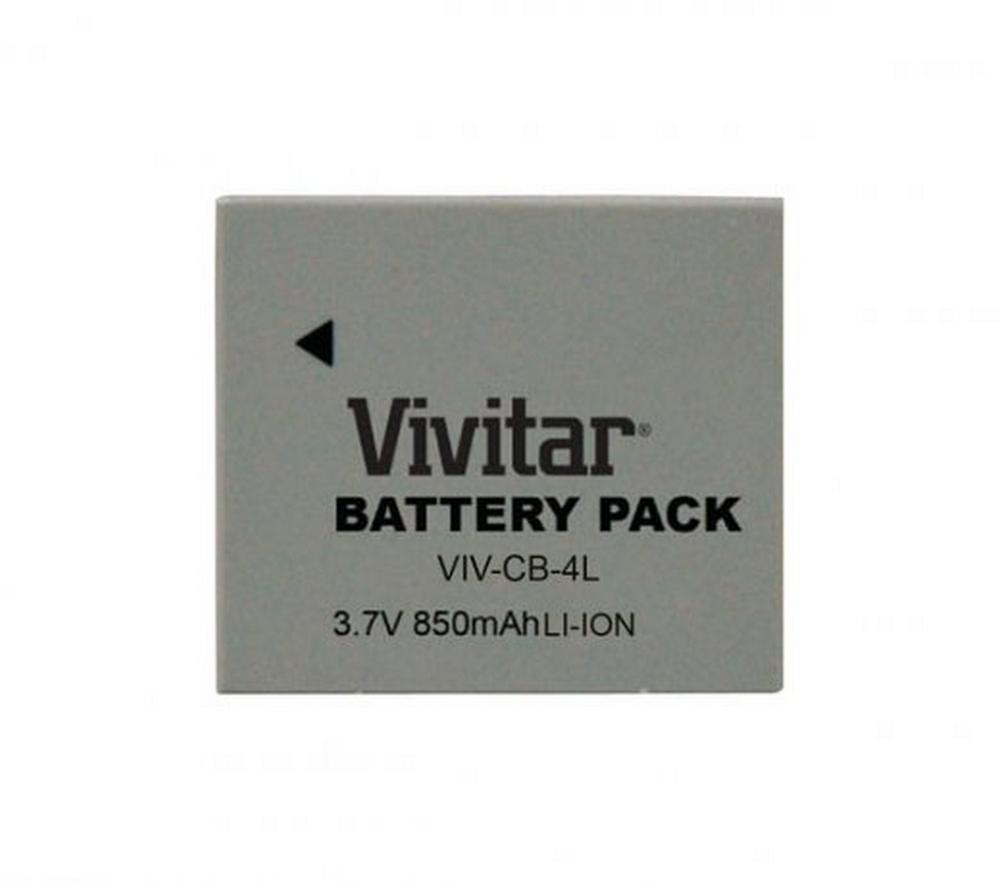 Bateria Recarregável VIVCB4L Vivitar / Equivalente a Canon Modelo NB4L Cine / Foto