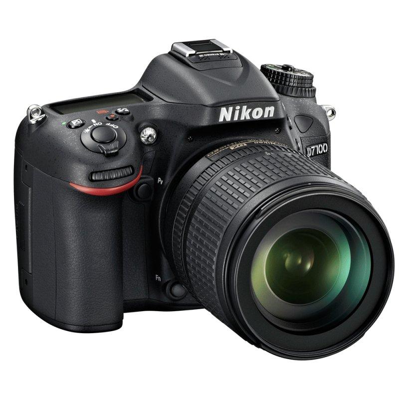 Câmera DSLR Nikon D7100 sensor CMOS DX 24.1MP LCD 3,2 ´ Full HD 1080p Com Lente 18 - 105mm VR Preta