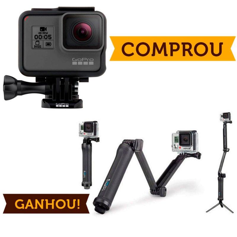 Compre Câmera GoPro Hero 5 Black e Ganhe Suporte Ultra-versátil GoPro