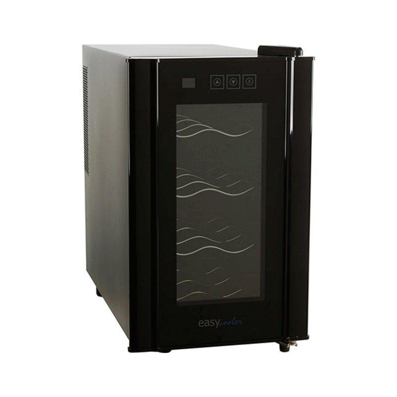 Adega Easy Cooler Termoelétrica Preta 8 Garrafas 220V Display em LCD Baixo Ruído