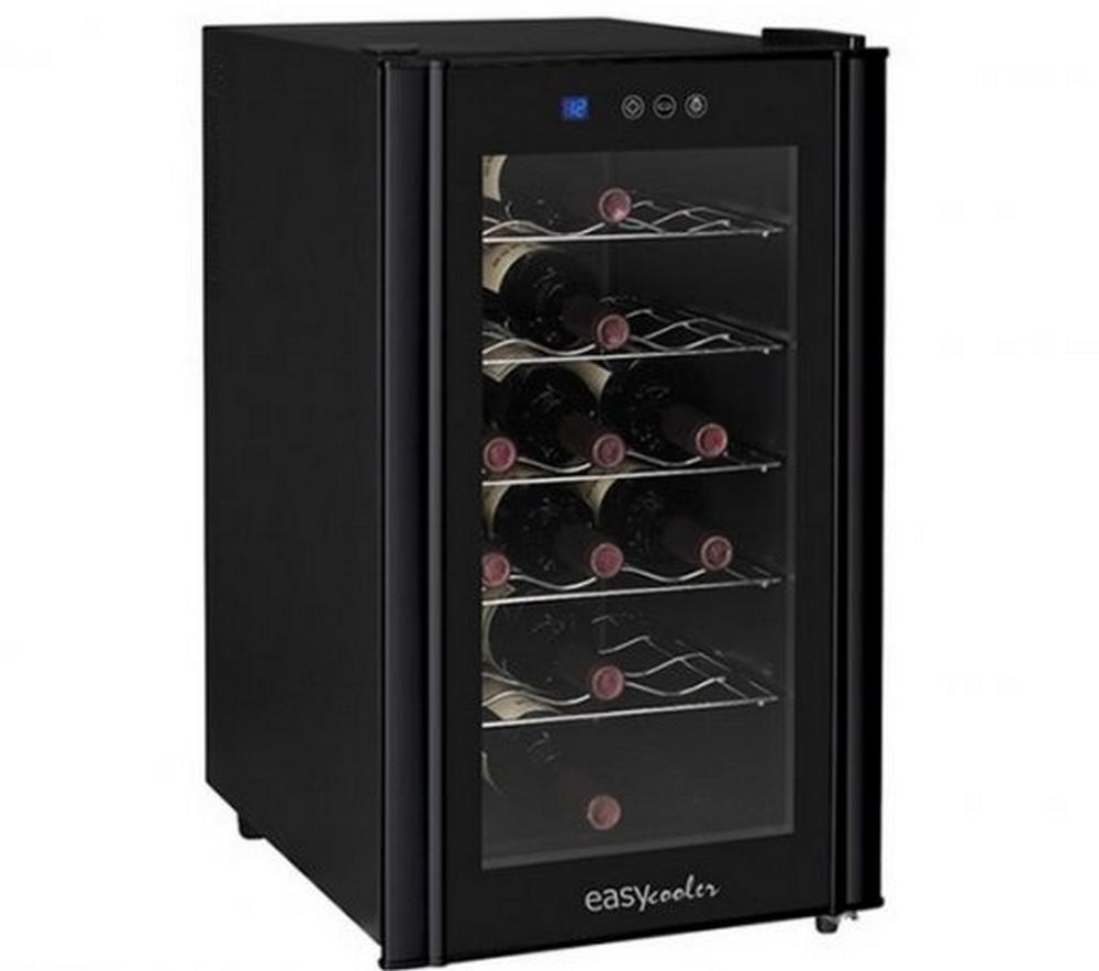 Adega Easy Cooler Termoelétrica Preta 110V 18 Garrafas Display Em LCD