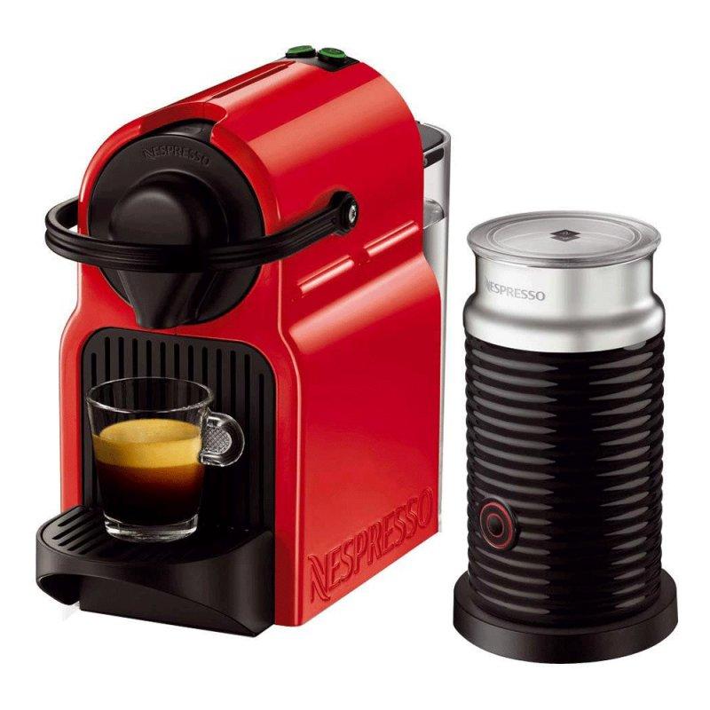 Máquina de Café Nespresso Inissia Red Aeroccino 3 Refresh 220V