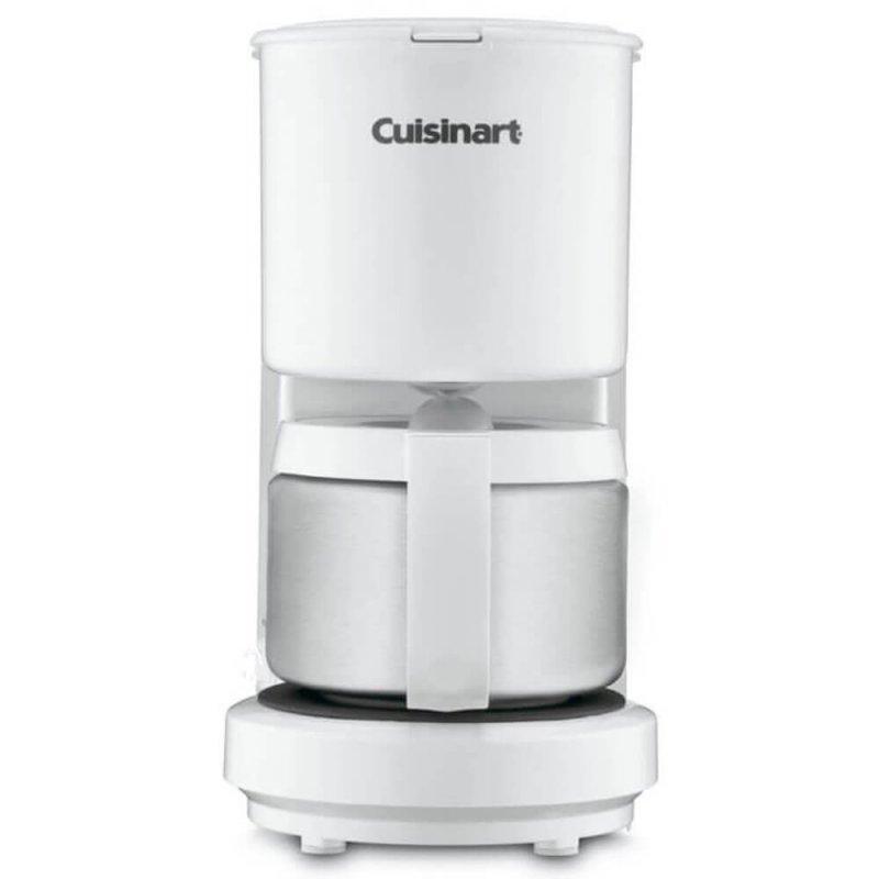 Cafeteira Cuisinart DCC450W 110V Branca para 4 Xícaras Jarra Em Inox