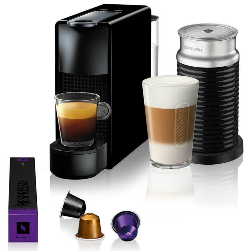 Máquina De Café Nespresso Essenza Mini Preta Com Aeroccino 3 127v