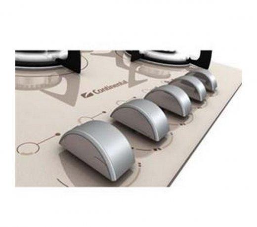 Cooktop Continental Decore / Champanhe / Bivolt / 5 Bocas / Á Gás / Botões Removíveis