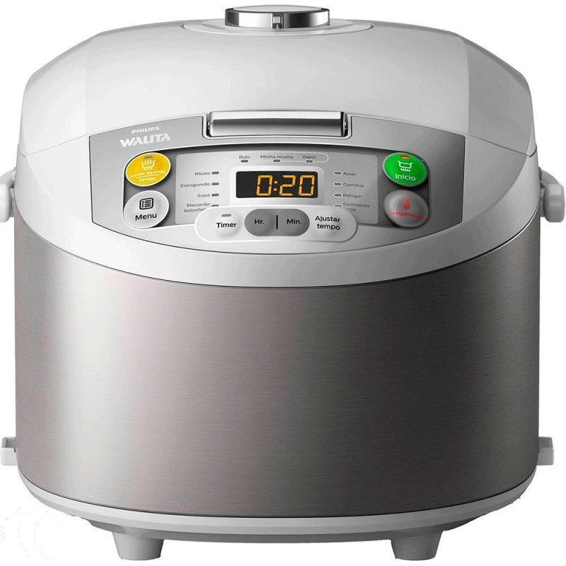 Panela Elétrica Philips Walita Multicooker Daily Viva Collection 220V Inox com 5L 11 Funções e Timer