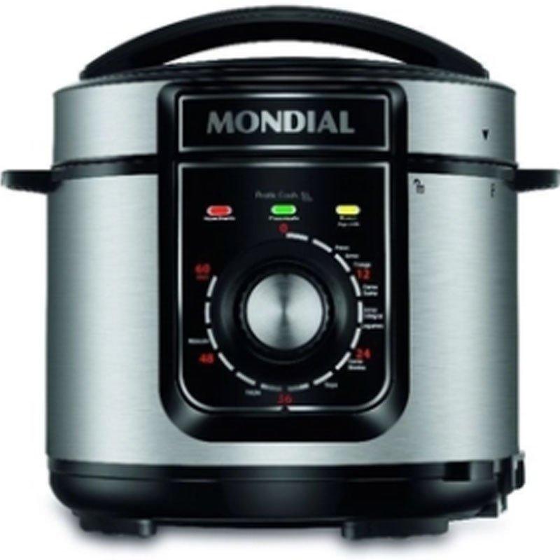 Panela De Pressão Elétrica Mondial Pratic Cook Preta 5l Pe-48-5l-i 22