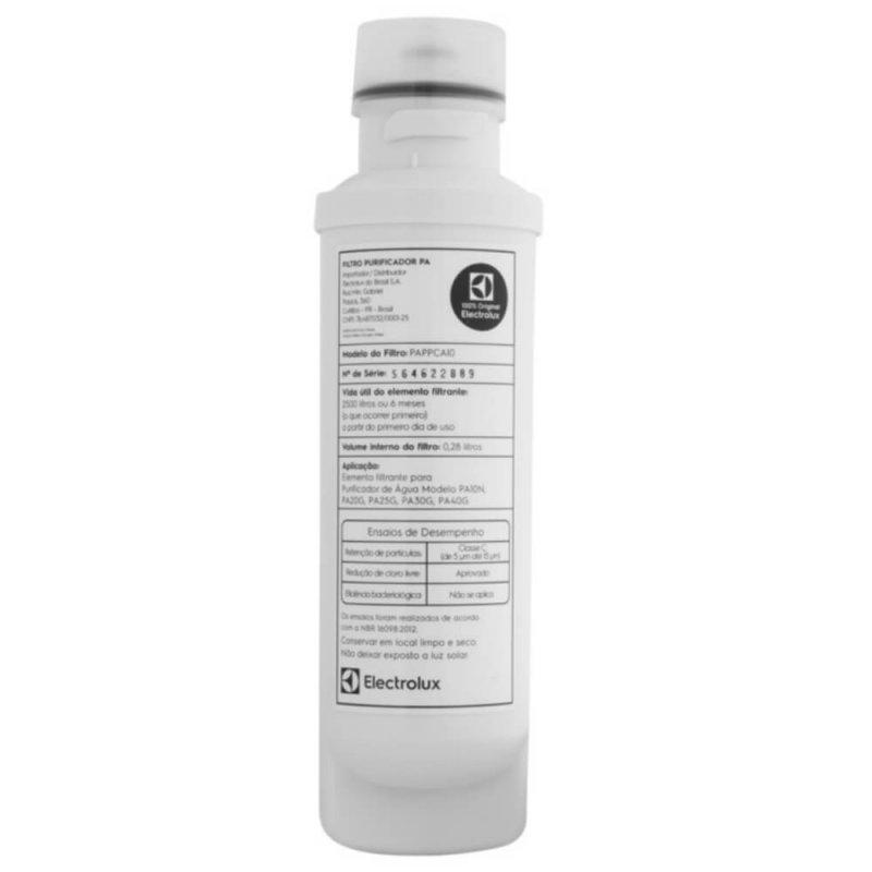 Refil/Filtro de Purificador de Água Electrolux para modelos PA10NG PA20G PA25G PA30G PA40G