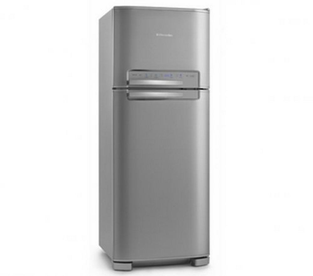 Refrigerador Electrolux Celebrate DFX49 / Blue Touch / Frost Free / 405 Litros / Inox / 110V
