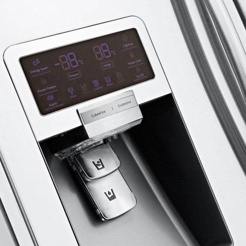 Refrigerador Samsung French Door Side by Side 127V Inox 614L com 4 portas