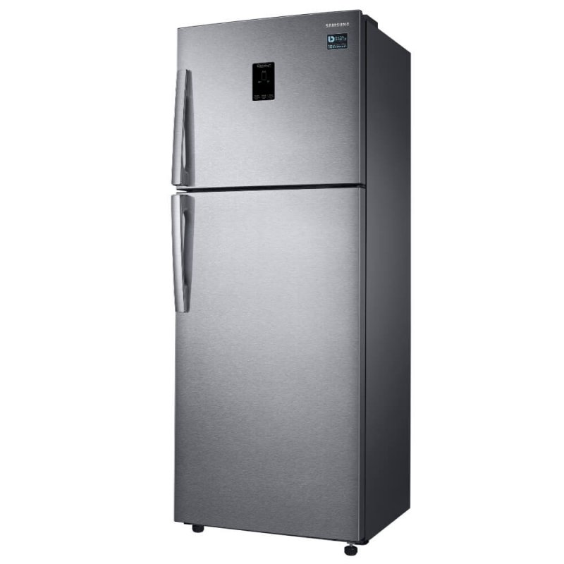 Refrigerador Samsung RT5000K Twin Cooling Plus 127V Inox 384L 2 Portas Eletrodomésticos Display de LED