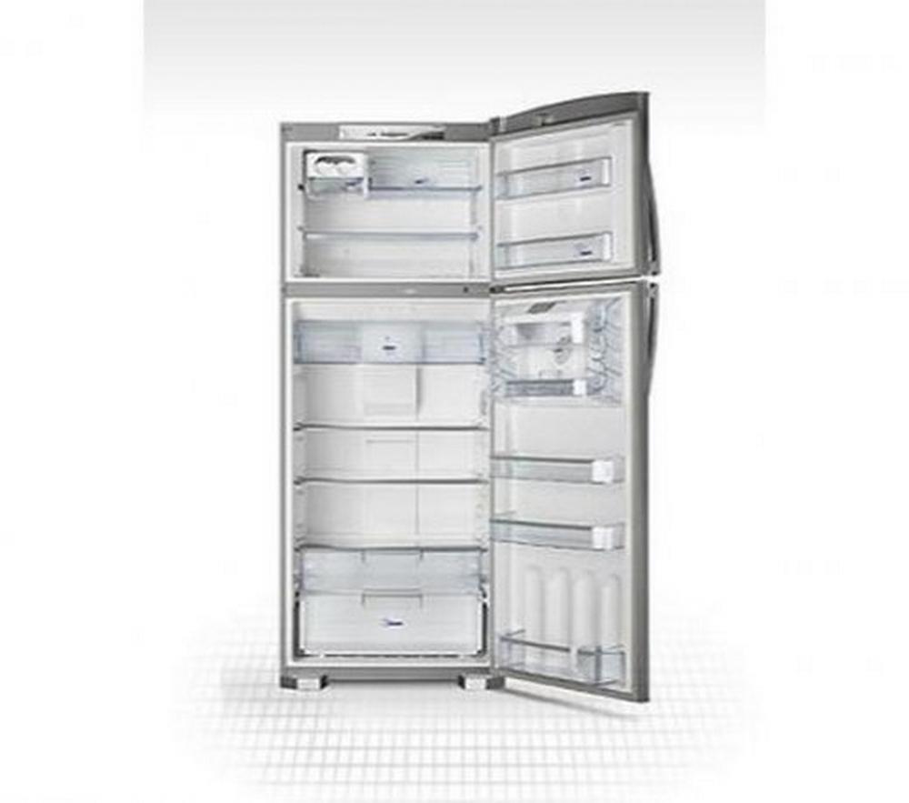Refrigerador Duplex Continental / Frost Free 445 L / Dispenser de Água na Porta / Inox / 110V