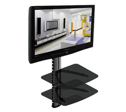 Suporte para DVD e Blu-Ray Loctek PDH104 / 2 Bandejas / Vidro / Trava de segurança