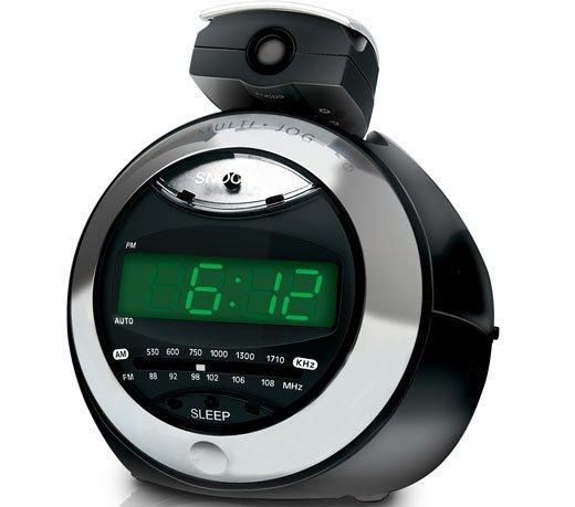 Rádio Relógio Coby CRA79BR  AM FM Digital  Projetor de Hora  Preto