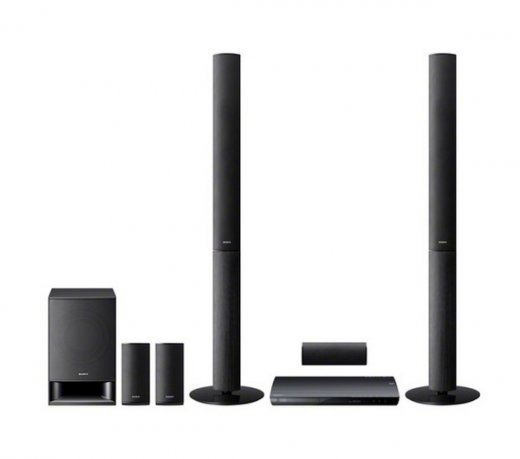 Home Theater Sony BDV-E490 / Preto / 3D / 5.1 / Bivolt / 850W / Blu-Ray / USB