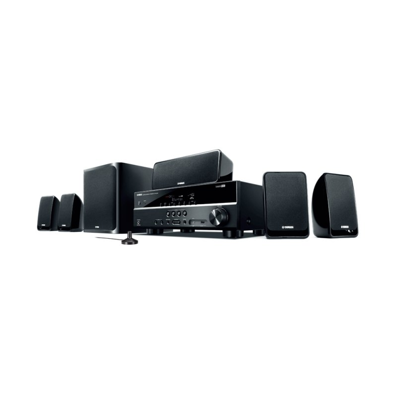 Home Theater Yamaha YHT - 2910BL 600W RMS 5.1 Áudio HD 4K Radio AM / FM Preto
