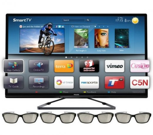 TV LED 3D Slim Philips 46' 46PFL5508 /Smart TV /Full HD /Ambilight /Wi-Fi /Preta