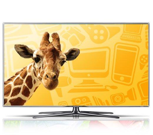 """TV LED 3D 55"""" Samsung Smart TV / Preto / Full HD / Conversor Digital"""