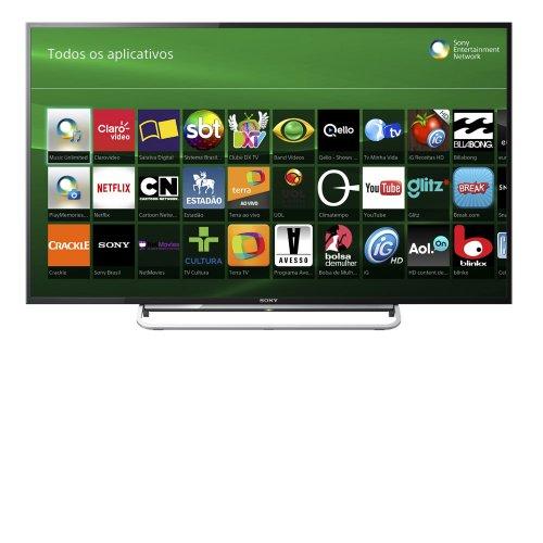 Pacote Promocional TV LED SONY 48 KDL 48W605 SMART TV FULL HD CONVERSOR INTEGRADO WI FI USB HDMI PRETA