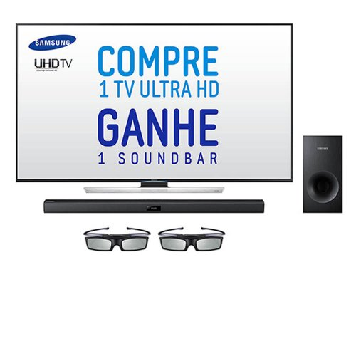 TV LED 3D 4K SAMSUNG 55 UN55HU8500 ULTRA HD SMART TV C SOUNDBAR SAMSUNG