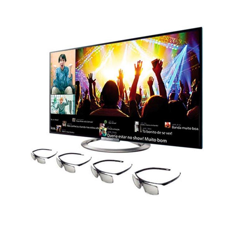 Smart TV LED 3D SONY 46 ´ KDL - 46W955A Full HD Wi - Fi HDMI USB Conversor TV Digital
