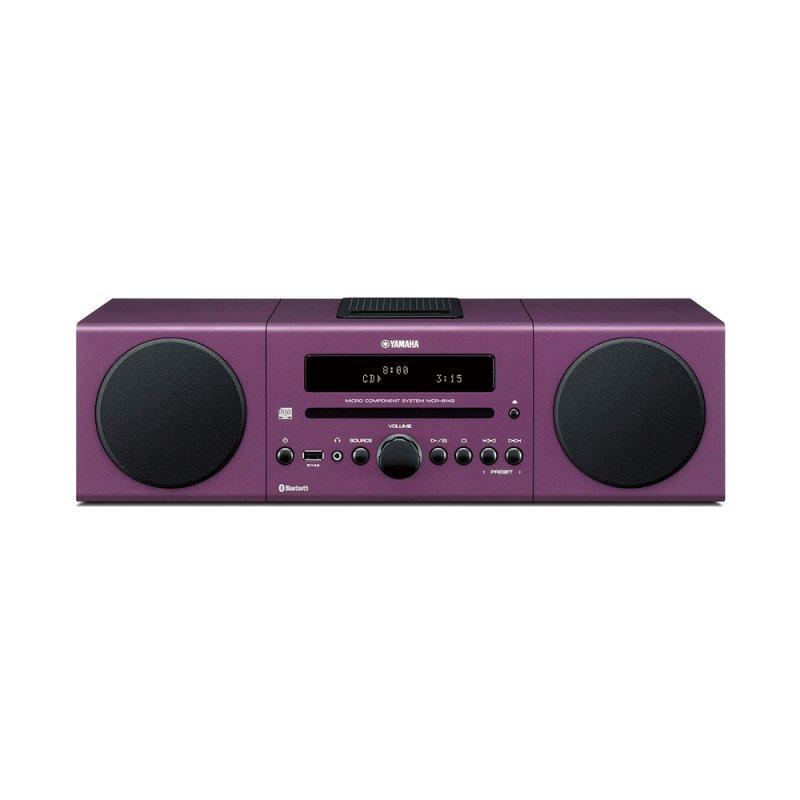 Micro System Yamaha MCR - B142PU 30W MP3 WMA Radio FM iPod / iPhone Roxo