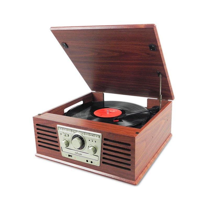 Toca-discos CTX Sonata Bivolt com Rádio FM Entrada USB e 10W de Potência