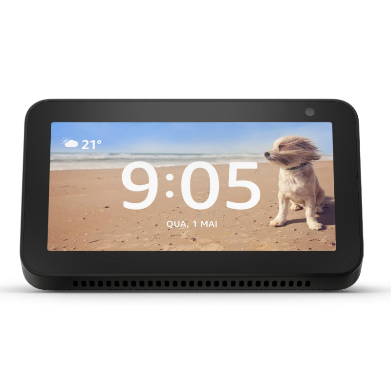 Echo Show 5 Amazon Smart Speaker Preta Alexa Em Portugues Com Tela De