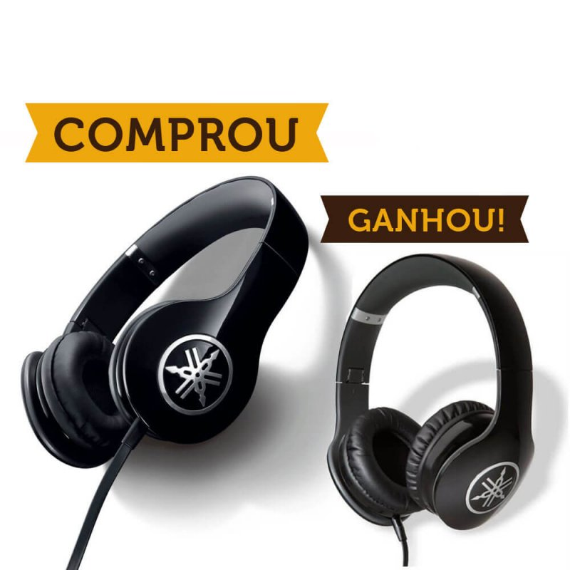 Compre 1 Headphone Yamaha HPH-PRO300 Preto e Ganhe Outro Igual