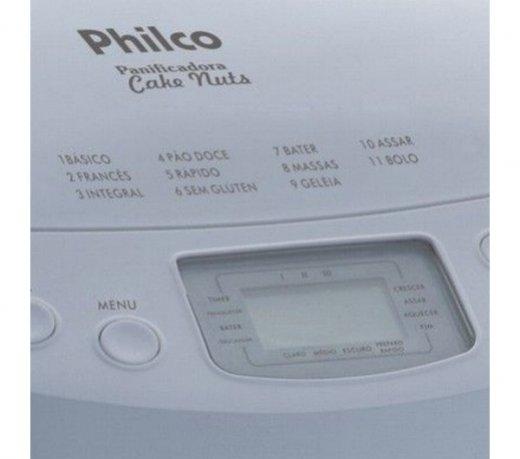 Máquina de Pão / Philco / Cake Nuts / Timer / 3 Ajustes de Cor / Branca / 110V