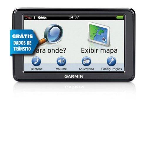GPS Garmin nüvi 2565 LT Tela 5 ´ Bluetooth Dados Trânsito Mapa Internacional