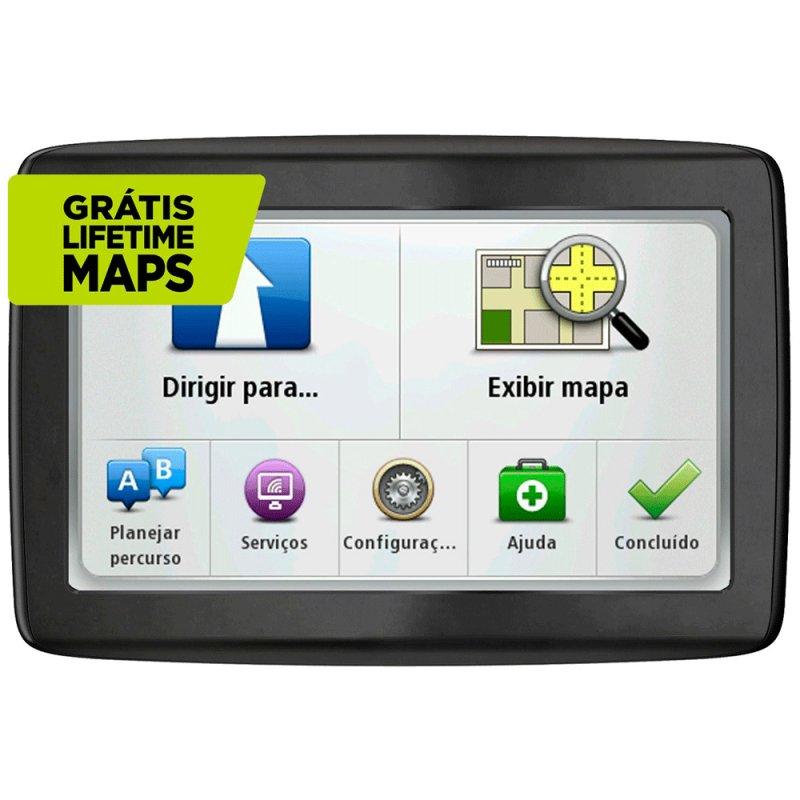 GPS Automotivo TomTom Via 1505 M Tela 5 ´ Touch Screen Localizador de Radares Preto