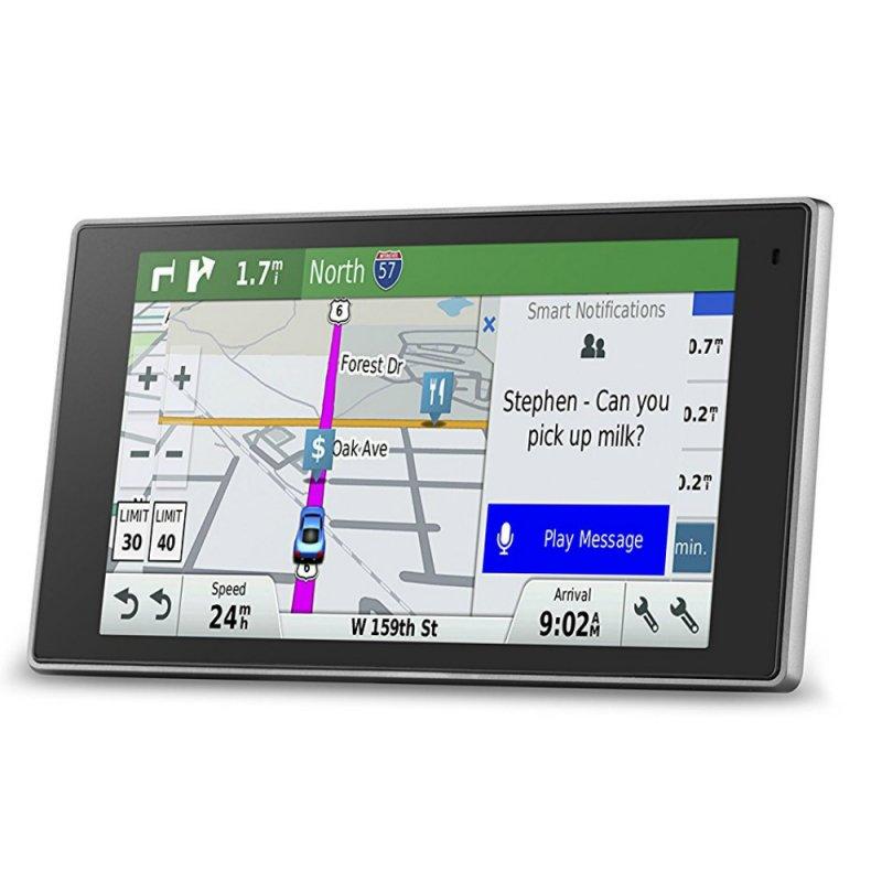 GPS Automotivo Garmin Drive Luxe 50LM América do Sul com Design em metal Informática Metal Navegação ativada por voz, Compatível com Tráfego FM, Display touchscreen