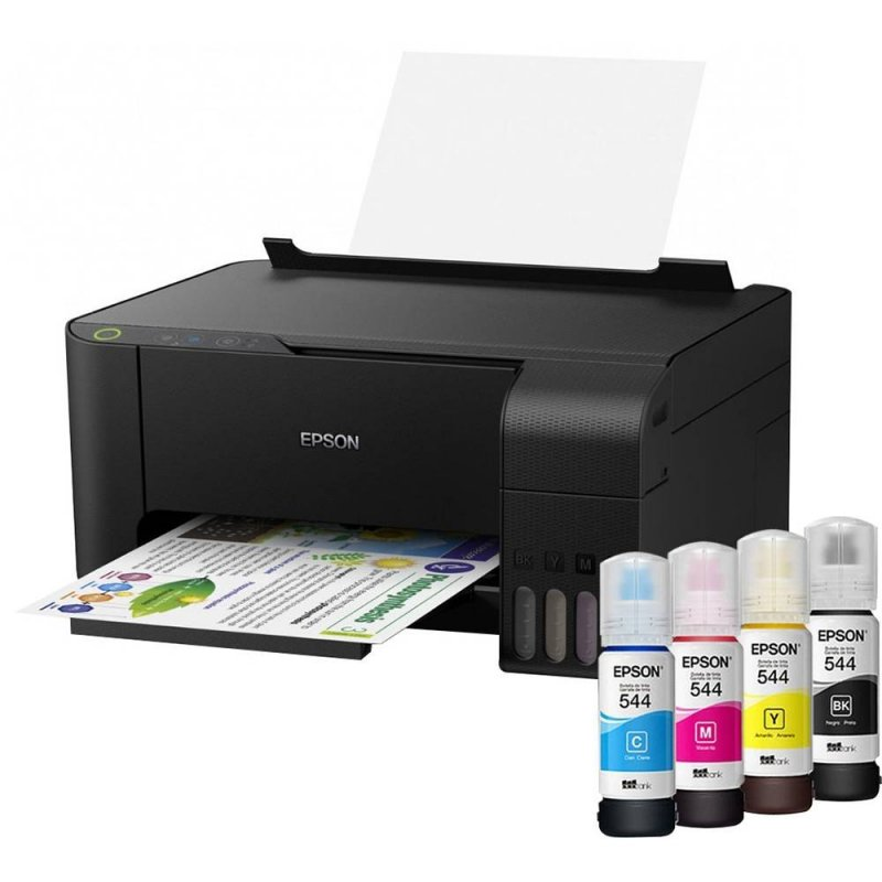 Impressora Epson Tanque De Tinta Ecotank L3110 Colorida Usb Imprime C