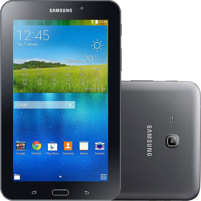 Tablet Samsung Galaxy Tab E 7.0 ´ Preto 8GB Wi - Fi Câmera 2MP Quad Core 1 GB de RAM Informática 7.0 ´ Preto
