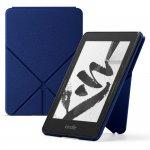 Capa Origami de Couro para Kindle Voyage Azul