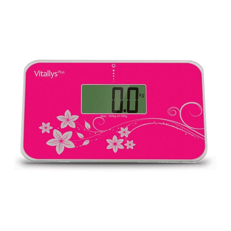 Balança Digital Portátil Vitallys Plus com Sensor de Alta Precisão Pink Capacidade 150 kg