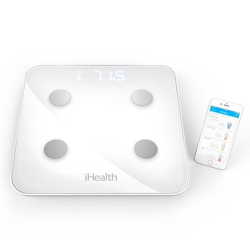 Balança Ihealth Core Bioimpedância 9 Medições 180Kg