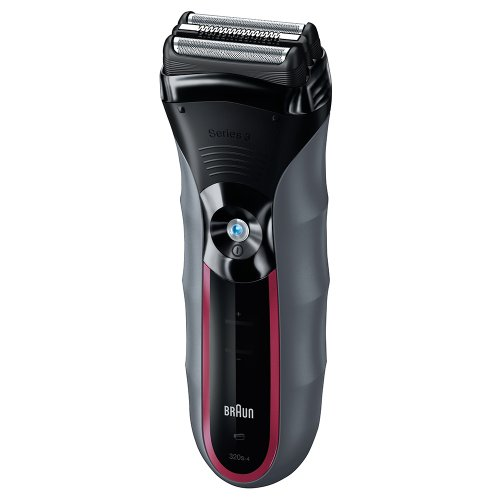 Barbeador Serie 3 Braun ABS8486 SensoFoil Recarregável Cinza e Vermelho