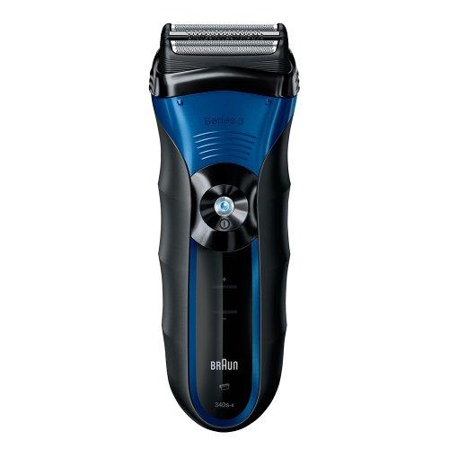 Barbeador Serie 3 Braun ABS8464 SensoFoil Recarregável Preto e Azul
