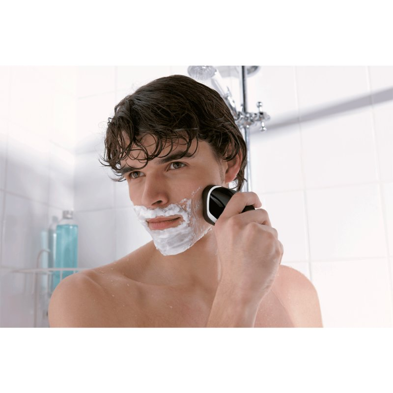 Barbeador Philips AquaTouch Basic Wet & Dry Bivolt Preto e Branco