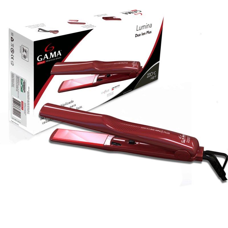 Prancha De Cabelo Gama Italy Lumina Duo Ion Plus Bivolt Vermelha Com