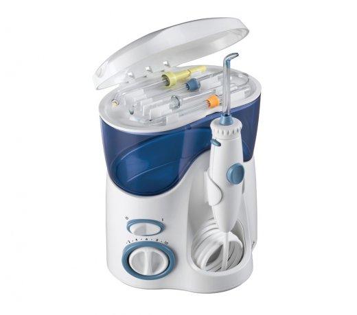 Irrigador Bucal e Fio Dental de Água Waterpik Ultra 100W / Portátil / Branco e Azul / 220V