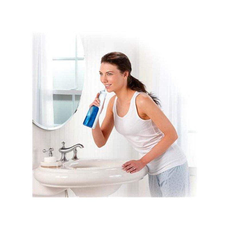 Irrigador Oral Waterpik WF02B Branco Sem Fio Funcionamento à Pilha com 2 Ajustes