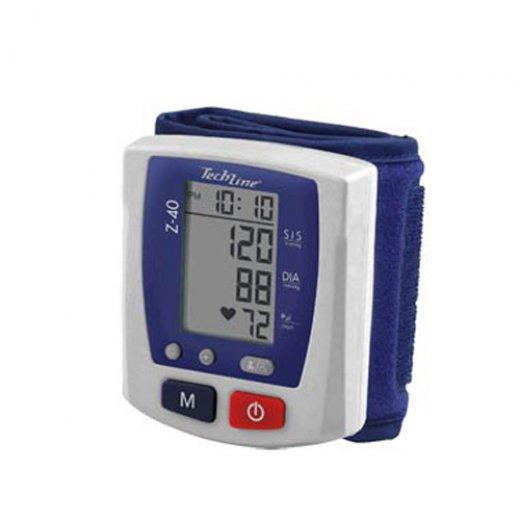 Monitor de Pressão Arterial Techline Z-40 / Digital / Automático de Pulso / Branco-Azul