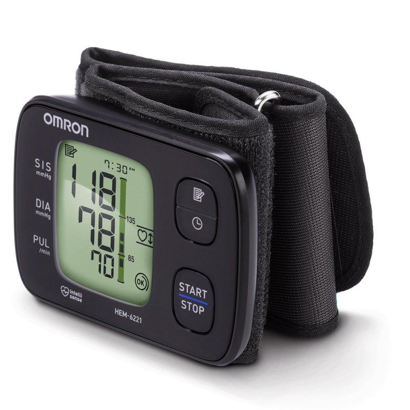 Monitor de Pressão Arterial de Pulso Omron Automático HEM-6221 Preto